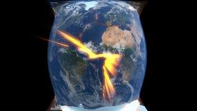 Kontynentalny dryf ilustracja wektor