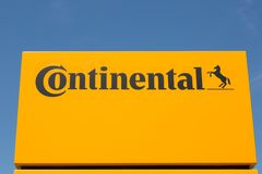 KONTYNENTALNY logo zdjęcia stock