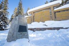 Kontynentalny podział na granicie Banff i Kootenay parki narodowi, Vermilion przepustka, Alberta, kolumbia brytyjska, Kanada zdjęcie stock