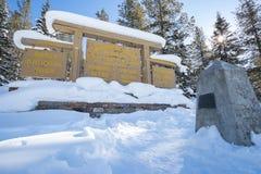 Kontynentalny podział na granicie Banff i Kootenay parki narodowi, Vermilion przepustka, Alberta, kolumbia brytyjska, Kanada fotografia royalty free