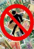 kontynuuje kryzys ekonomicznego Fotografia Royalty Free