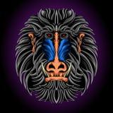 Konung av apan royaltyfri illustrationer