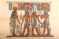 Konung av den gamla Egypten konungen på papyruset royaltyfri illustrationer