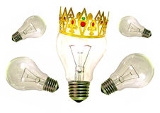 Konung av den ljusa idén för idéer Royaltyfri Bild