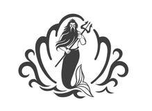 Konung av havet royaltyfri illustrationer