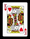 Konung av hjärtor som spelar kortet, royaltyfria bilder
