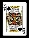 Konung av spadar som spelar kortet, fotografering för bildbyråer