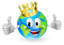 Konung av världsmaskoten Royaltyfri Foto