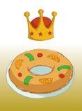 Konung Cake Royaltyfria Bilder