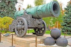 Konung Cannon i MoskvaKreml Färgfoto Arkivbild