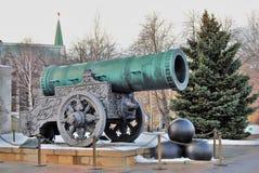 Konung Cannon i MoskvaKreml Färgfoto Royaltyfri Fotografi