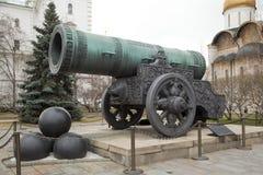 Konung Cannon Tsar Cannon i Moskva arkivfoton