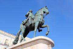 Konung Carlos III Arkivfoto