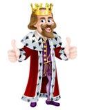 Konung Cartoon Mascot royaltyfri illustrationer