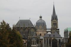 Konung Charlemagnes Cathedral Germany Arkivfoton