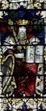 Konung David i målat glass arkivbilder