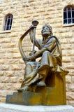 Konung David Scoulpture i Jerusalem den gamla staden Israel Royaltyfria Bilder