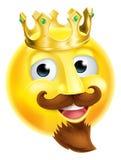 Konung Emoji Emoticon Royaltyfri Foto