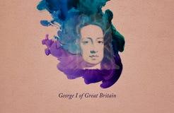 Konung George I av Storbritannien vektor illustrationer