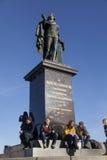 Konung Gustaf III, monument i Stockholm, Sverige Fotografering för Bildbyråer