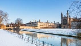 Konung högskola, Cambridge universitetar, England Arkivbild