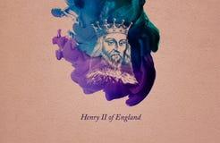 Konung Henry II av England vektor illustrationer