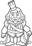 Konung i ceremoniell dräkt stock illustrationer