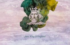 Konung John av England stock illustrationer