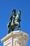 Konung Jose som jag skulpterar i Lissabon, Portugal Royaltyfri Bild
