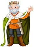 Konung med den gröna ämbetsdräkten royaltyfri illustrationer