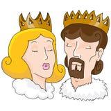 Konung och drottning vektor illustrationer
