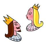 Konung och drottning stock illustrationer