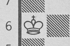 Konung på ett schackdiagram Arkivbild