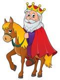 Konung på hästtemabild 1 stock illustrationer