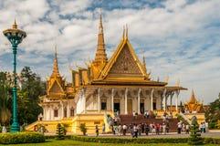 Konung Palace i Phnom Penh Royaltyfria Foton