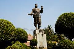 Konung Sisavang Vong Statue - Vientiane Royaltyfri Fotografi