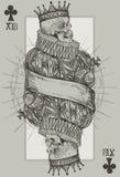 Konung Skeleton royaltyfri illustrationer