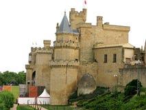 Konung slott i Olite i Navarra, Spanien Fotografering för Bildbyråer