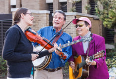 Konung Street Bluegrass Performers Reston Virginia royaltyfria foton