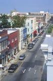 Konung Street i den historiska charlestonen, SC Arkivfoton
