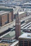 Konung Street Station - sikt från det Smith Tower observationsdäcket, Seattle, Washington Royaltyfria Foton