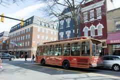 Konung Street Trolley Fotografering för Bildbyråer