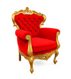 Konung Throne Chair Royaltyfri Bild