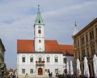 Konung Tomislav Square i Varazdin Royaltyfria Foton