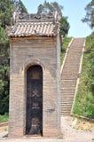 Konung Wen av Zhou Mausoleum Arkivbild