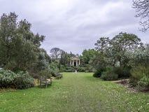 Konung Williams Temple Kew Gardens Winter Arkivfoto