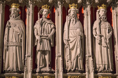Konungar avskärmar i den York domkyrkan arkivfoton