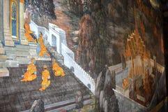 KONUNGAR FÖRLÄGGER I BANGKOK THAILAND Arkivbilder