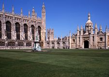 Konungar högskola, Cambridge, England. Royaltyfria Bilder