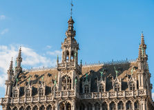 Konungar inhyser och museet av staden i Bryssel Arkivbilder